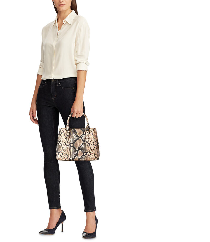 Bolso satchel en piel animal skin, , editorial