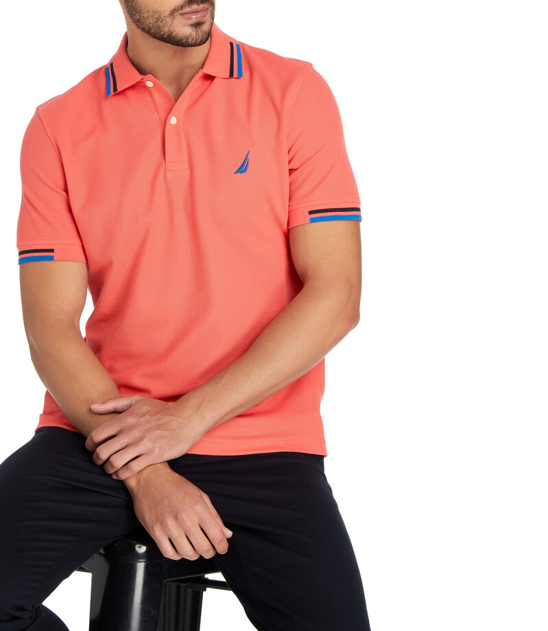 Playera Polo Hombre, CORAL, editorial