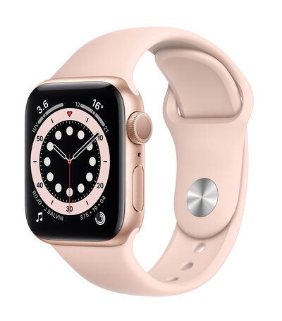 Apple Watch Series 6 GPS, 40 mm Oro, Rosa Arena, , large