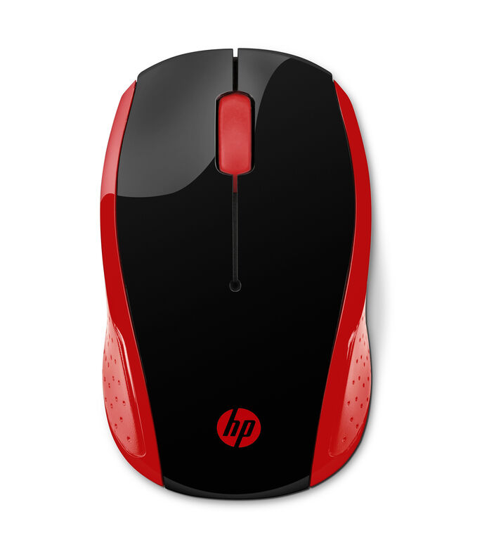 Hp HP Mouse 200 Inalámbrico Rojo, , large