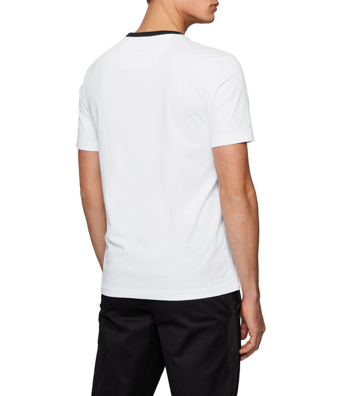 Boss Playera Regular con logo en punto sencillo Bionic Hombre, BLANCO, large