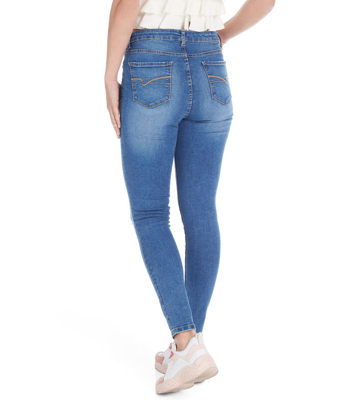 Jeans Skinny Mujer, AZUL CLARO, large