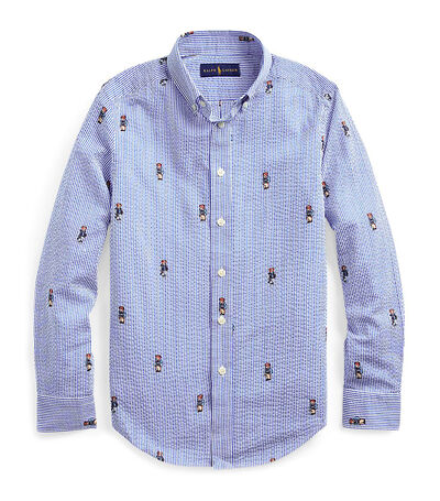 Camisa de Seersucker Boating Bear Niño, , large