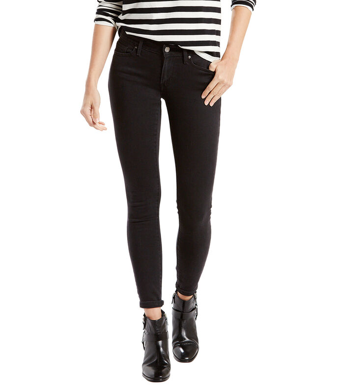 Jeans 711 Skinny Mujer, NEGRO, large
