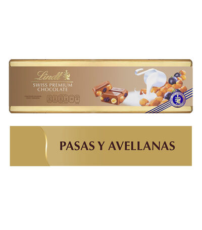 Chocolate Swiss Premium con Leche, Pasas y Avellanas, 300 gr, , large