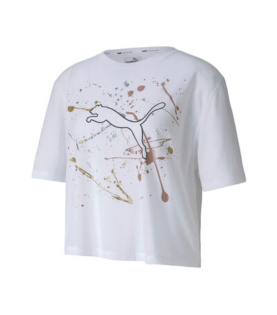Playera Metal Splash Graphic Mujer, , large