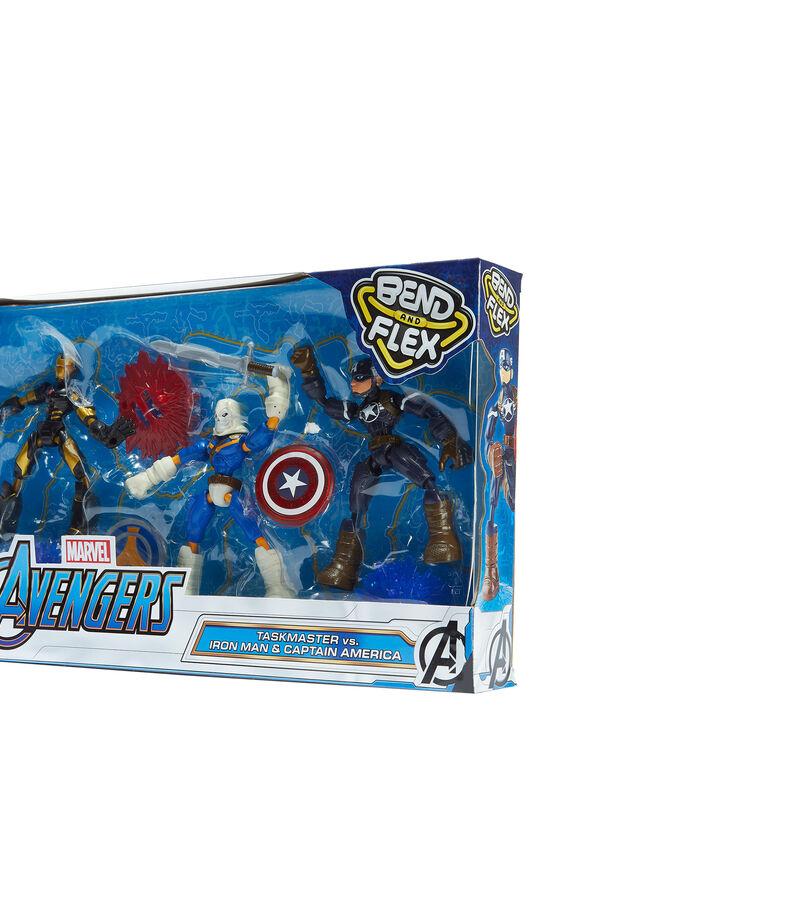 Avengers Bend and Flex 3-Pack, Taskmaster VS Iron Man & Capitán América, , editorial