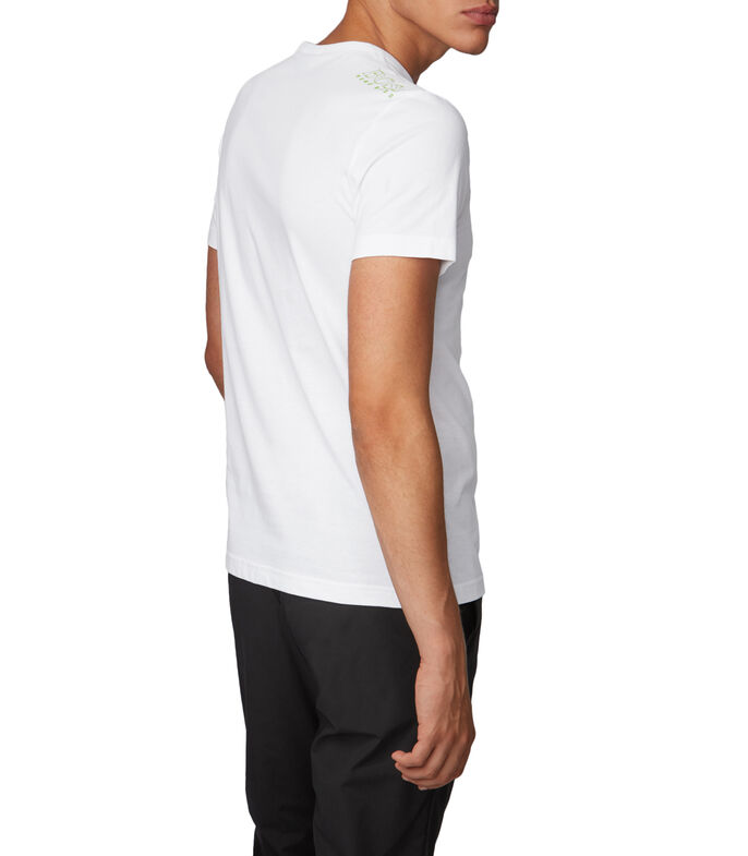 Boss Playera Regular con detalle en contraste Hombre, BLANCO, large