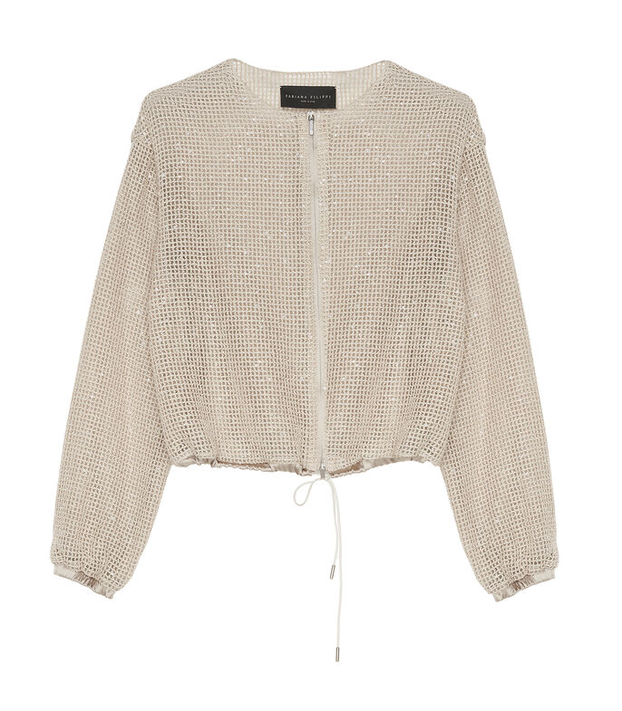 Chamarra bomber Mujer, BEIGE, large