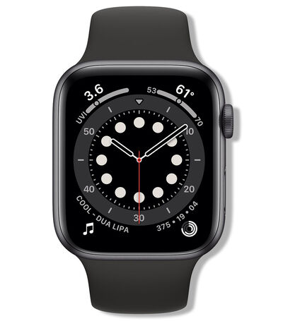 Apple Watch Series 6 GPS, 44 mm, Space gray, black, , large