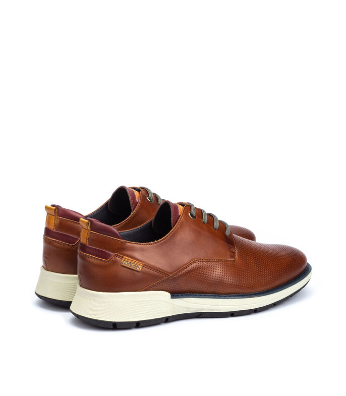 Zapatos Casuales Derby Hombre, CAFE, large