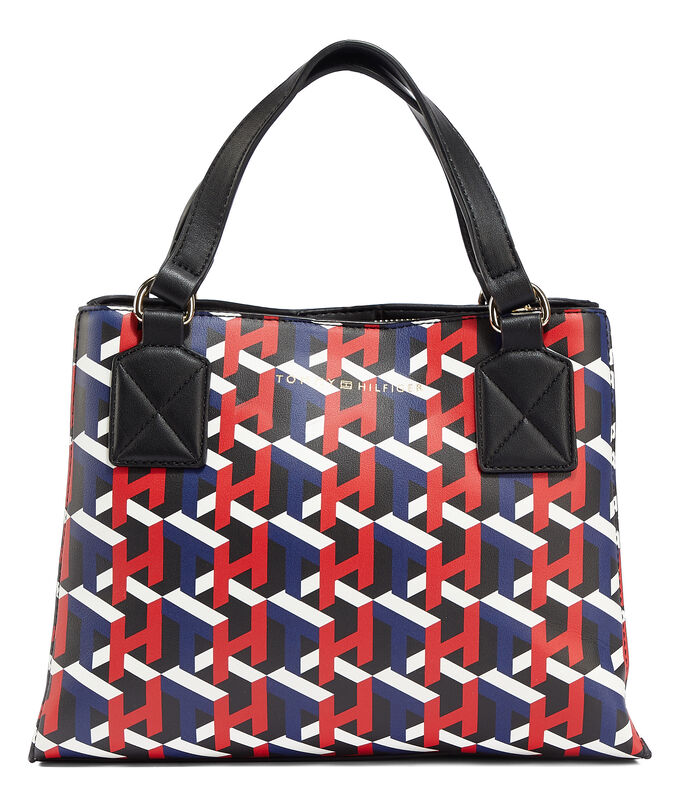 Bolso satchel, MULTICOLOR, large
