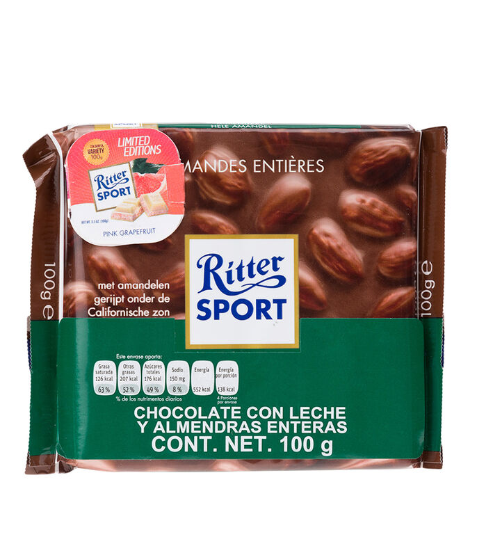 Chocolate con leche y Almendras Enteras, 100 g, , large