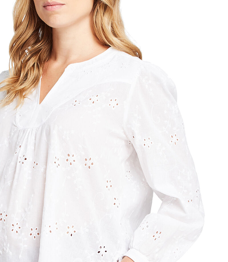 Expecting Essentials Blusa floral manga larga Mujer, BLANCO, editorial