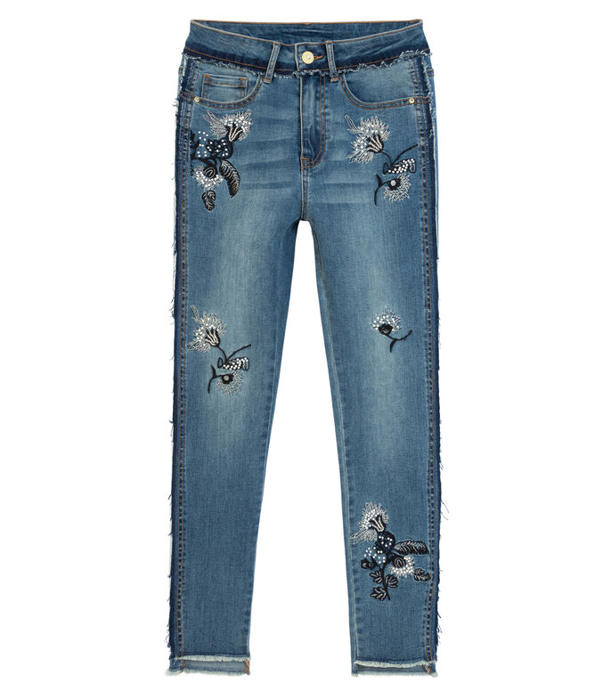 Jeans Recto Mujer, AZUL, large