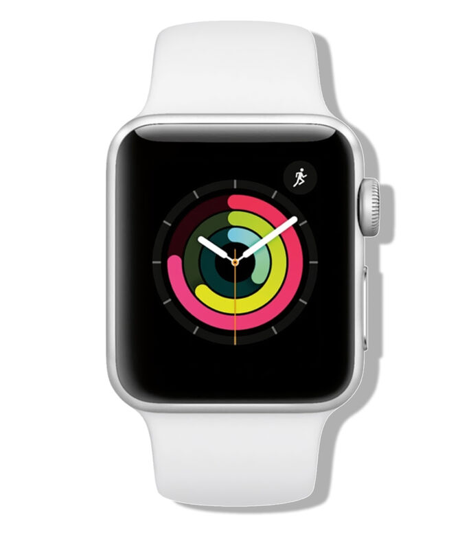 Apple Watch Series 3, 38 mm, Plata/Blanco, , large