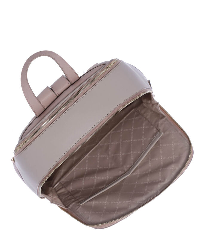 Bolso backpack, BEIGE, large