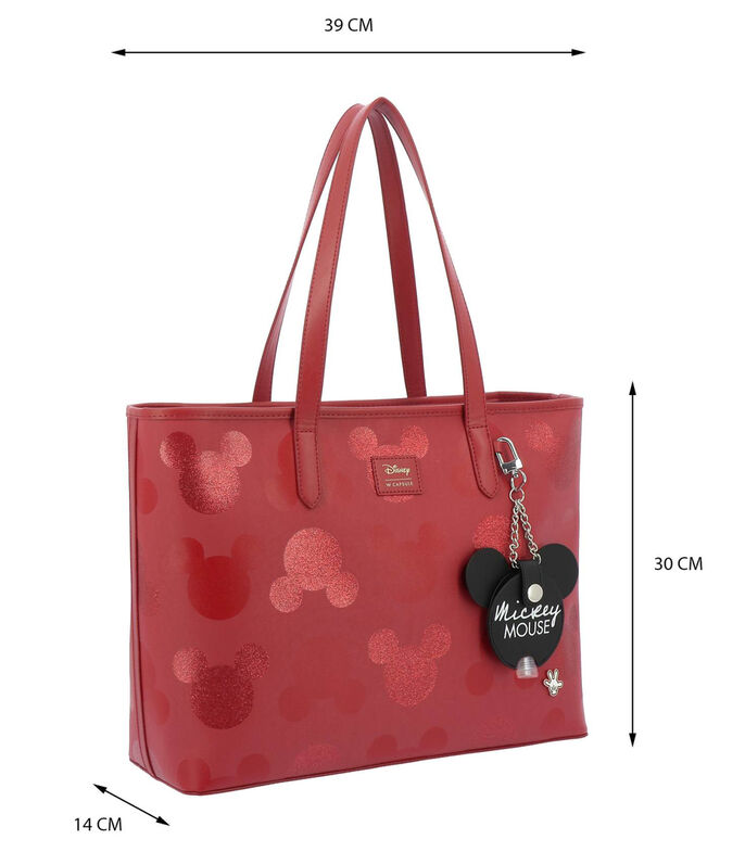 Bolso tote Mickey Mouse, ROJO, large