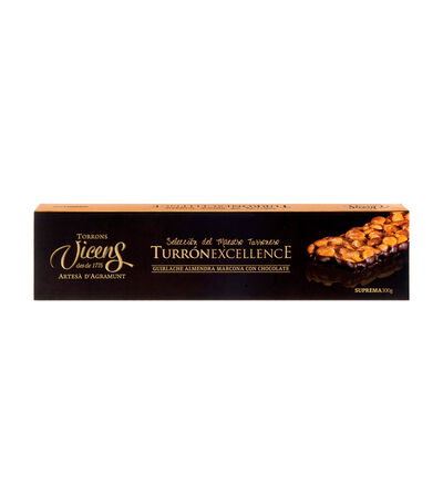 Turrón Guirlache Base Chocolate Excellence, 300 gr, , large