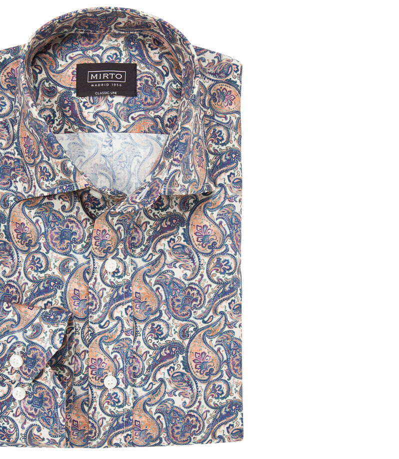 Camisa paisley manga larga Hombre, MULTICOLOR, editorial