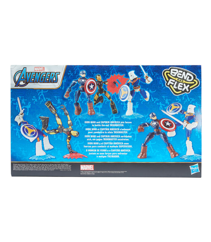 Avengers Bend and Flex 3-Pack, Taskmaster VS Iron Man & Capitán América, , large