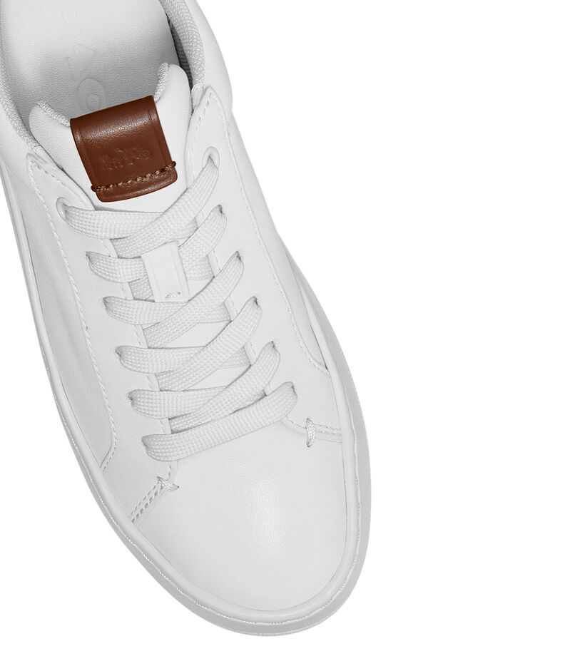 Tenis Lowline Luxe Leather Mujer, BLANCO, editorial