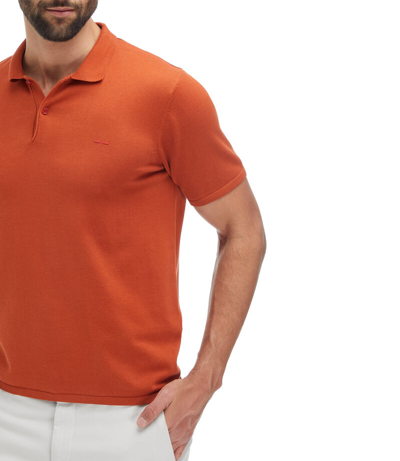 Adolfo Dominguez Playera Polo Hombre, NARANJA OBSCURO, editorial