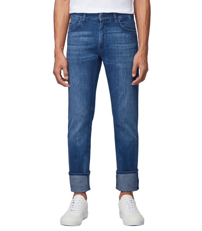 Jeans BOSS regular fit en denim elástico italiano super suave, , large