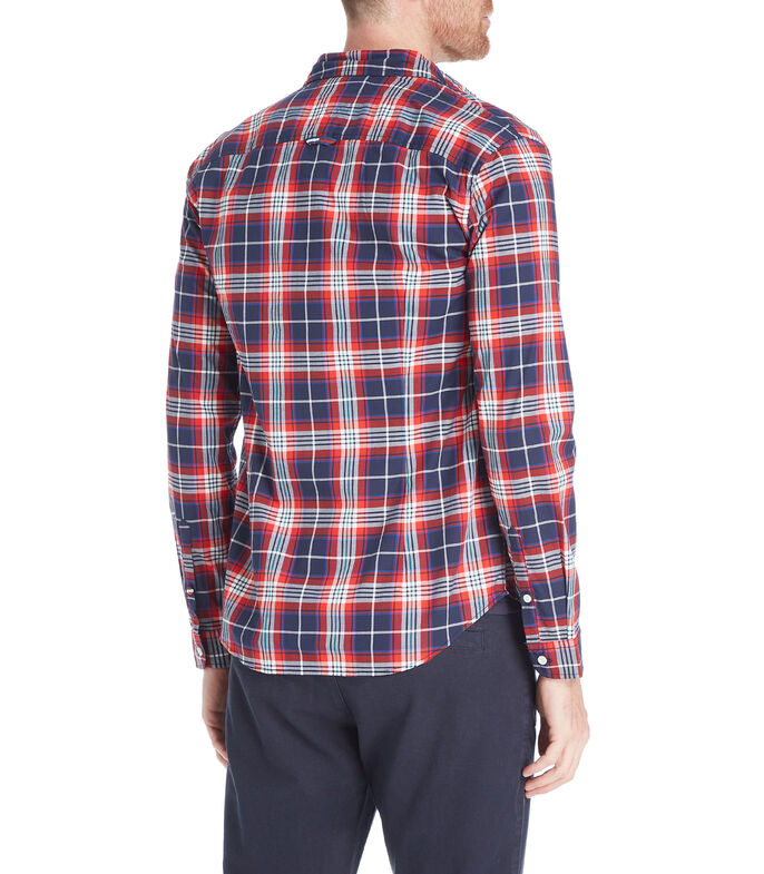 Tommy Hilfiger Camisa con cuadros manga larga Hombre, AZUL, large