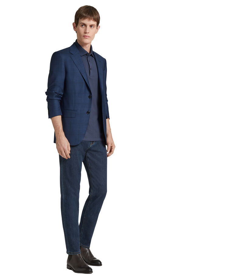 Jeans Slim Fit Hombre, AZUL, editorial