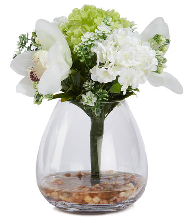 Arreglo floral de hortensias, artificial, , large