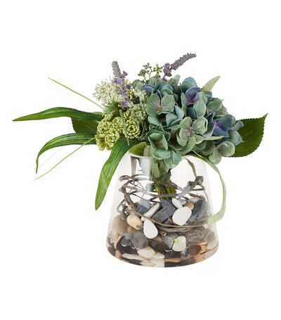 Arreglo Floral con Hortensias, Artificial, , large