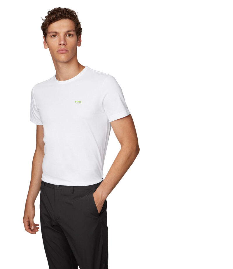 Boss Playera Regular con detalle en contraste Hombre, BLANCO, editorial