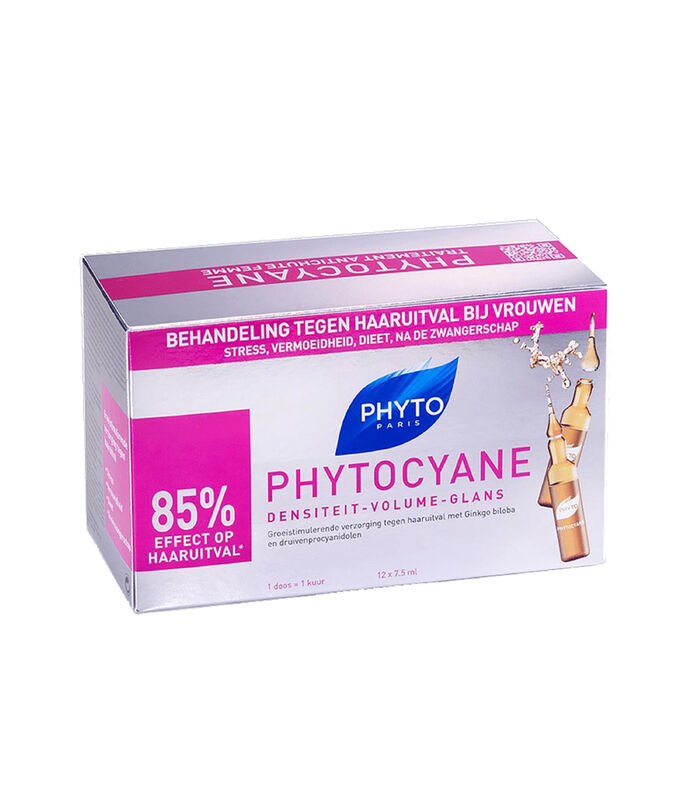 Phyto Tratamiento, Phytocyane, 12 Ampolletas, , large