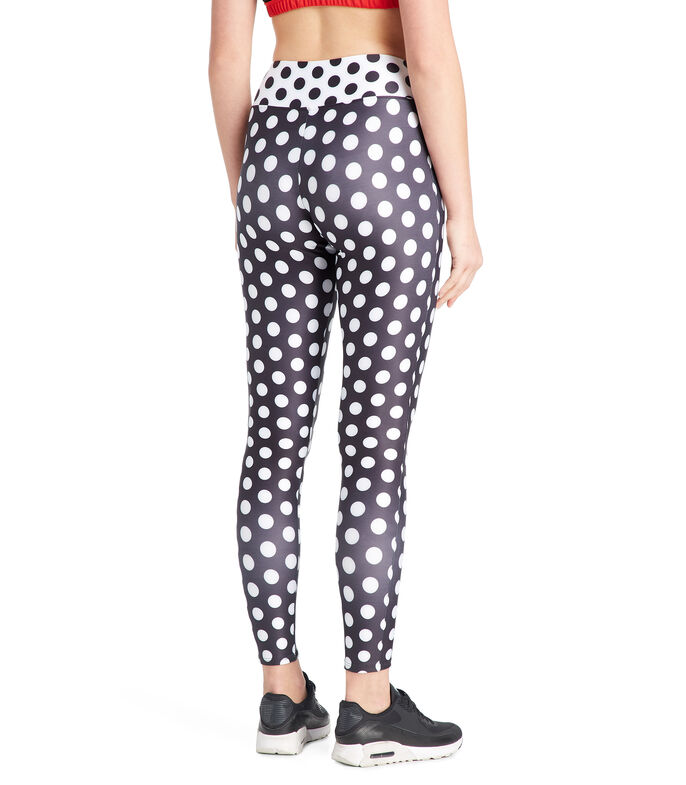 Leggings Minnie Mouse Mujer, NEGRO, large