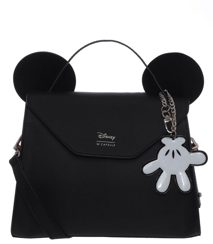 Bolso satchel Mickey and Friends, NEGRO, large
