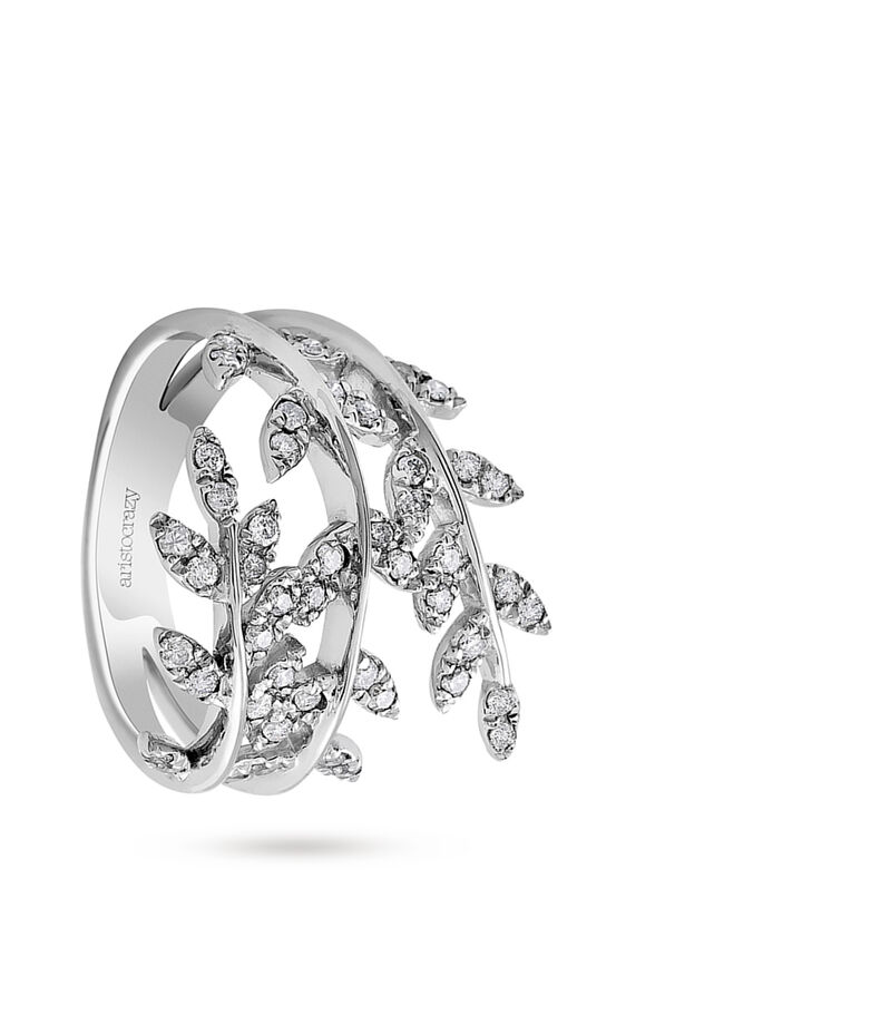 Aristocrazy Anillo Frosted Leaves Mujer, , editorial