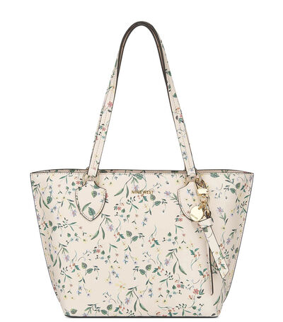 Bolso tote con flores, , large
