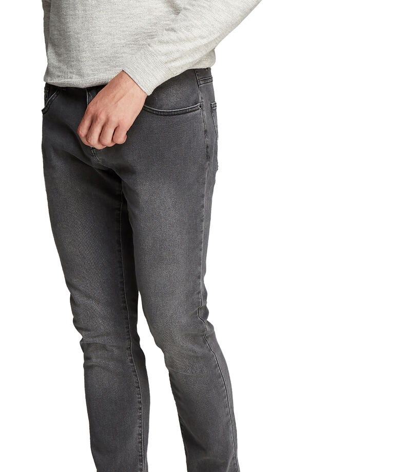 Jeans Slim Fit Hombre, GRIS, editorial