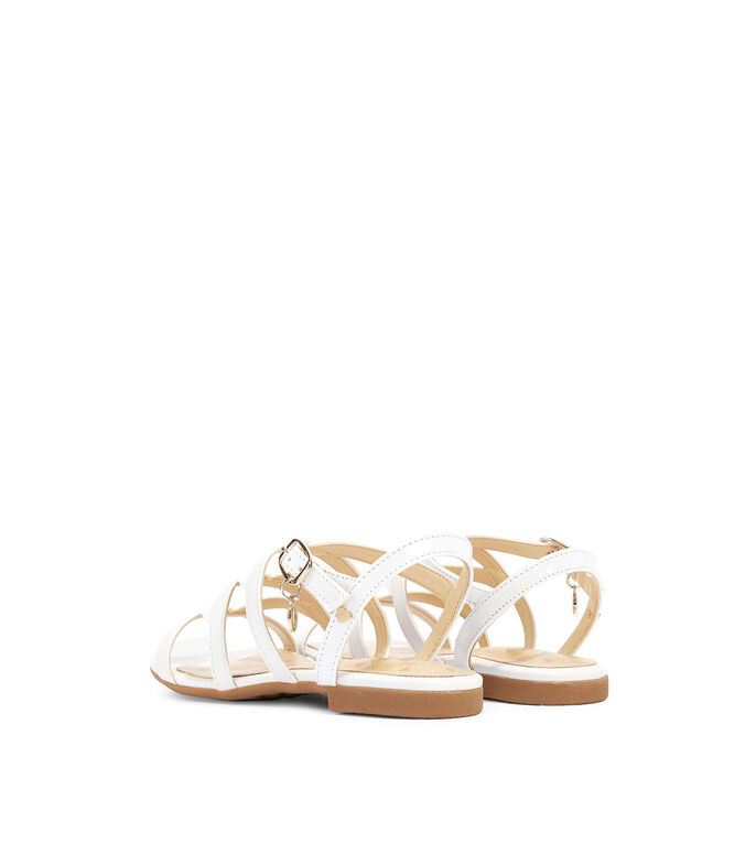 Nine West Kids Sandalias con tacón bajo Niña, BLANCO, large