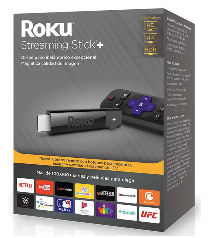 Reproductor Streaming Roku Streaming Stick + 4K HD HDR, , large