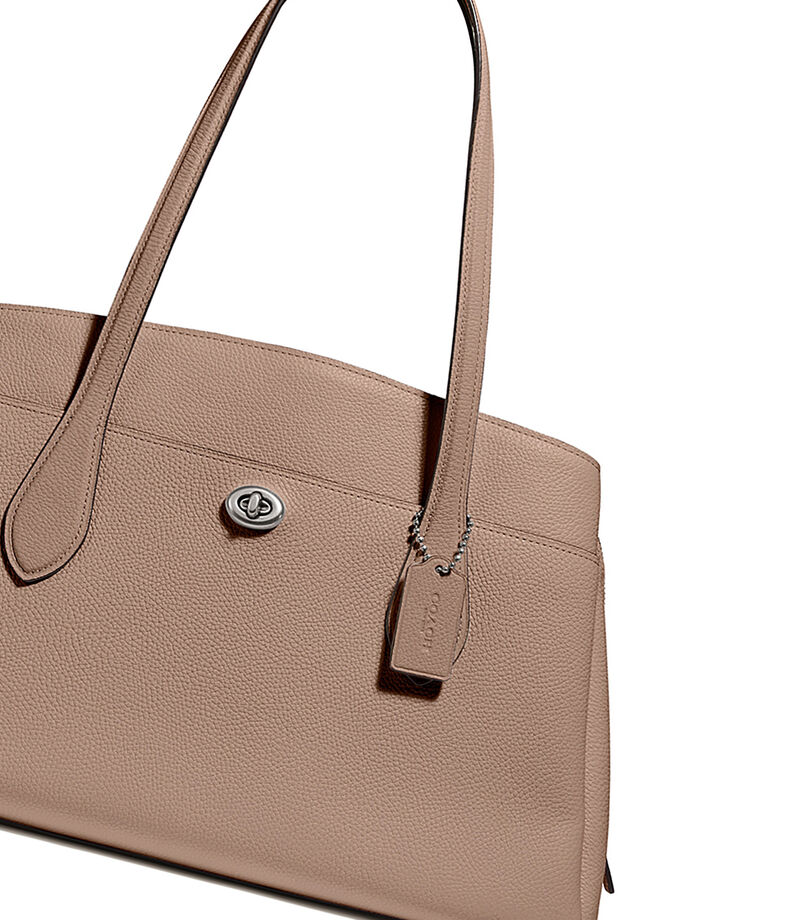 Bolso satchel en piel, , editorial
