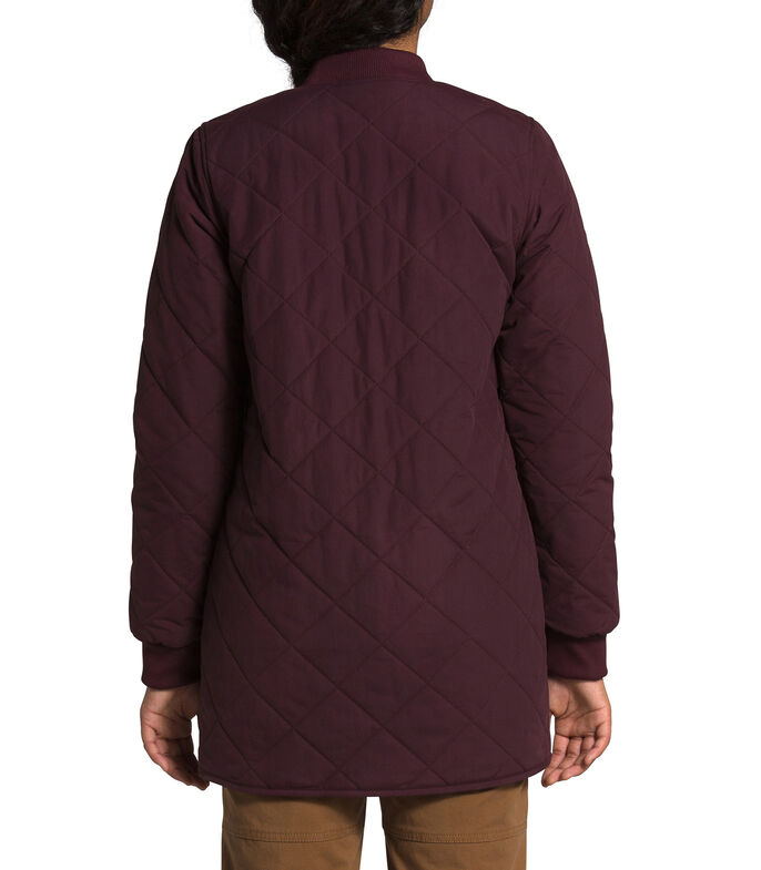 The North Face Chamarra parka Mujer, VINO, large