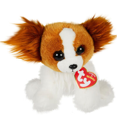 Peluche Barks Dog Reg Brown White, , large
