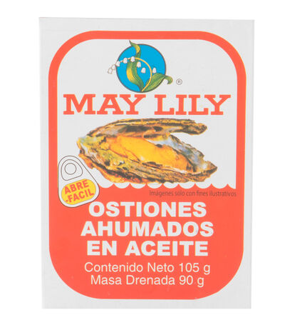 Ostiones Ahumados May Lily 105g, , large