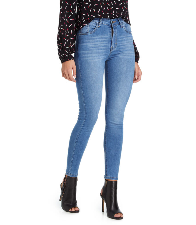 Wild & Alive Jeans Skinny Mujer, AZUL, large