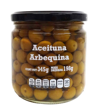 Aceituna Arbequina Natural con Hueso, 345 g, , large