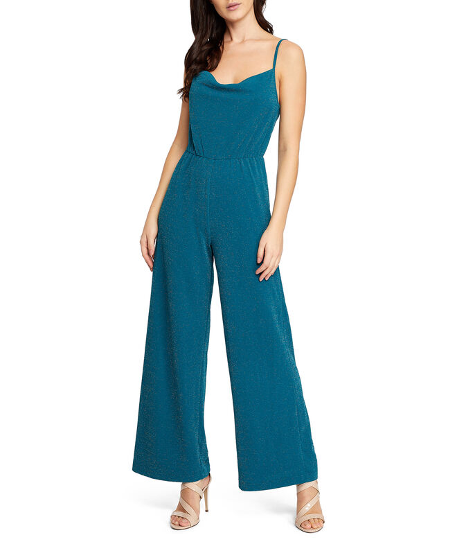 Jumpsuit corte recto Mujer, VERDE, large