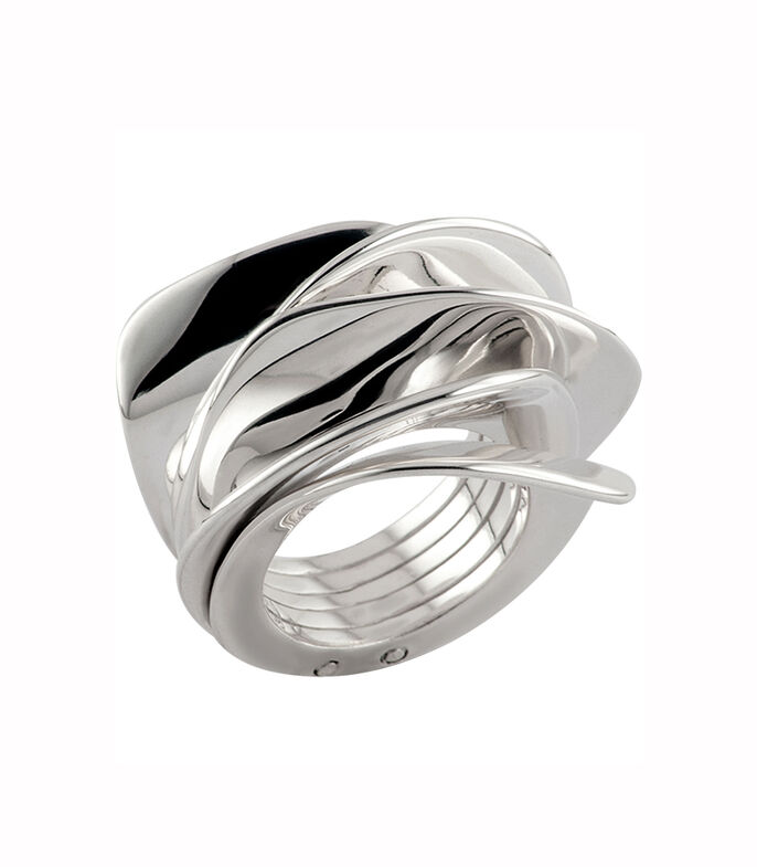 Anillo en plata Flor Mujer, , large