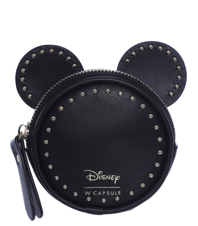 Monedero Mickey Mouse Mujer, NEGRO, large